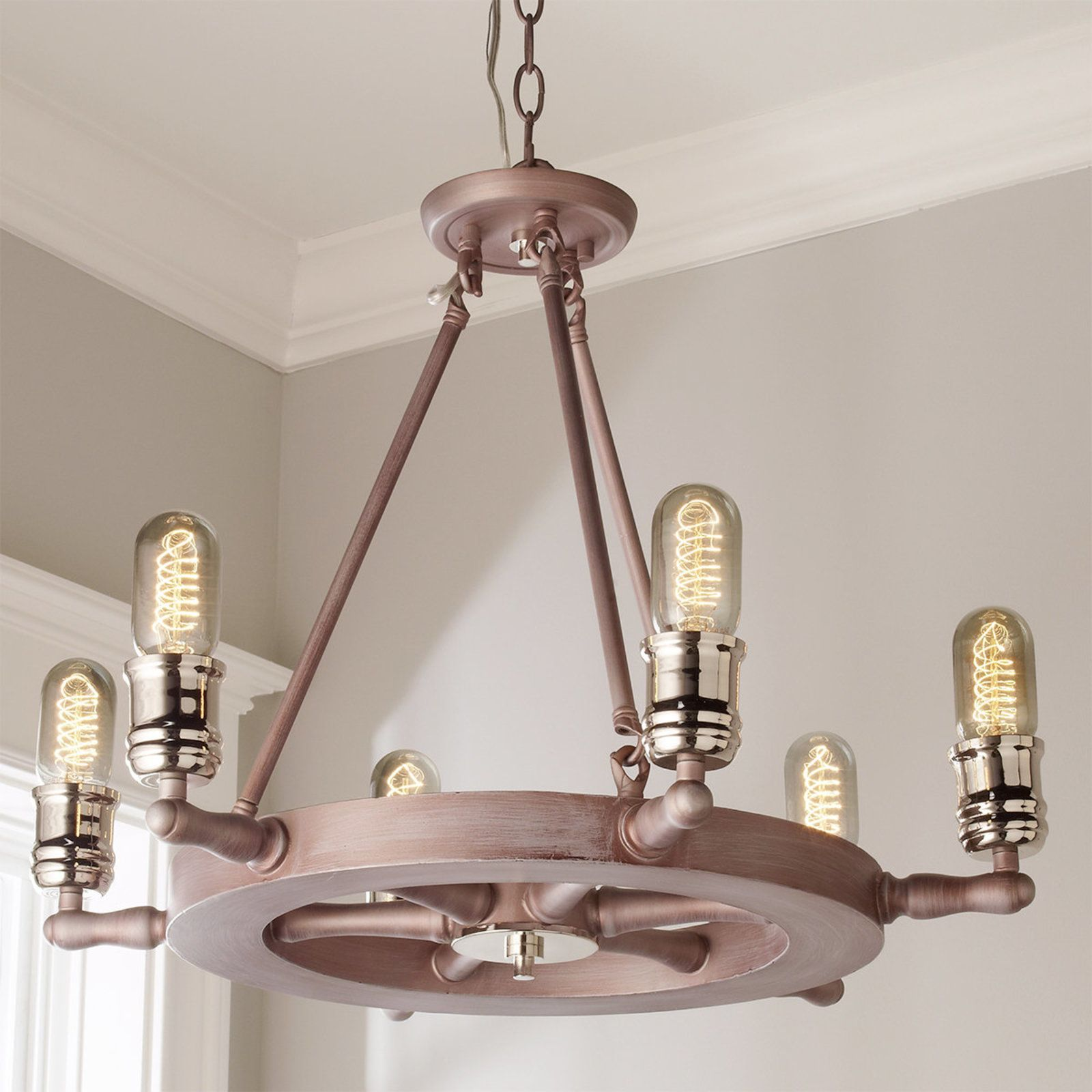 Captain s Wheel Chandelier