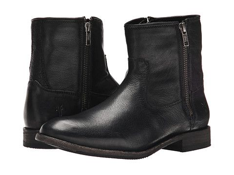 Frye Ethan Double Zip Black Buffalo Leather - Zappos.com Free Shipping BOTH  Ways d5cb3a4f9be9