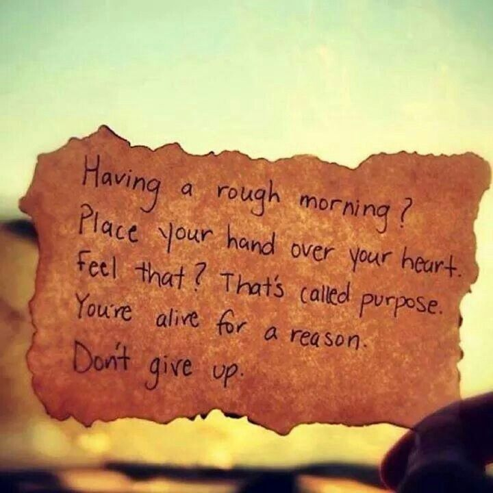 Having A Rough Morning? Place Your Hands Over Your Heart