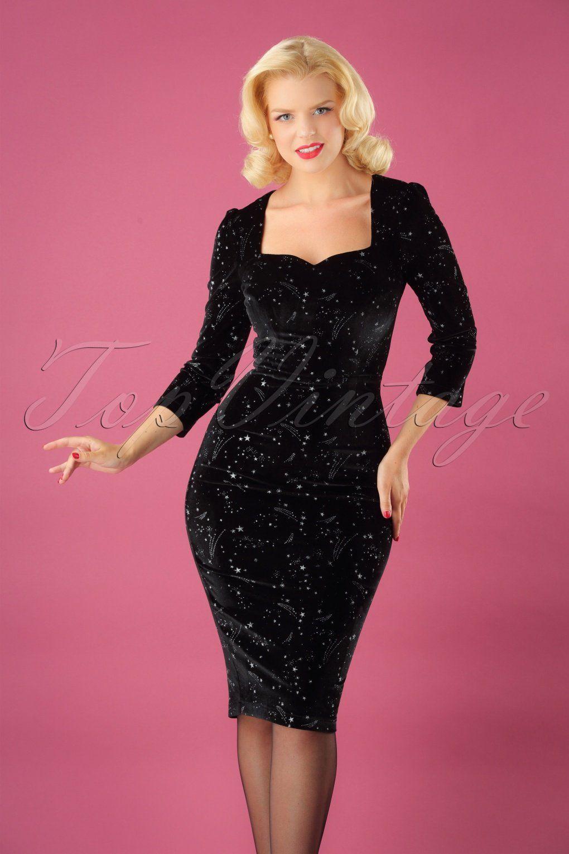50s Vanessa Make A Wish Pencil Dress In Black Dresses Pencil Dress Cocktail Dress Holiday [ 1530 x 1020 Pixel ]