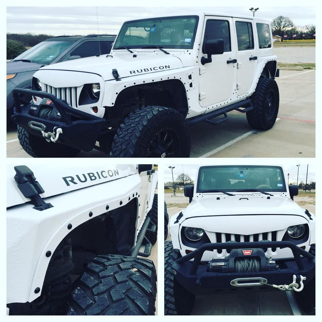 Xrc Body Armor And Angry Bird Grille Sprayed White Sprayed Jeep
