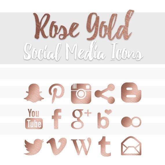 Rose gold social media icons by lianaterrydesigns on etsy rose gold social media icons by lianaterrydesigns on etsy reheart Choice Image