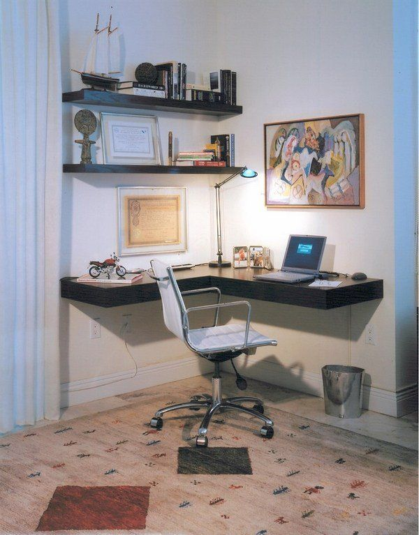 Bedroom Furniture Home Office Minimalist Desk Floating Shelves Diy Corner Desk Computer Desk Design Room Desk
