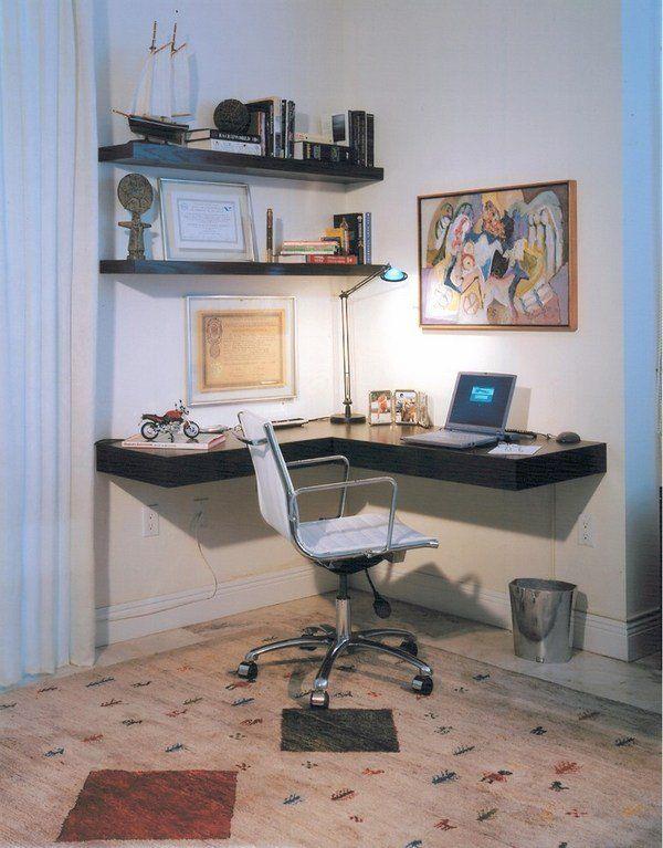 Bedroom Furniture Home Office Minimalist Desk Floating Shelves Diy Corner Desk Computer Desk Design Room Desk