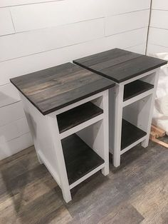 Ana White Bedside End Tables Diy Projects Farmhouse Style Planked Wood Farmhouse Furniture Diy Wood Projects