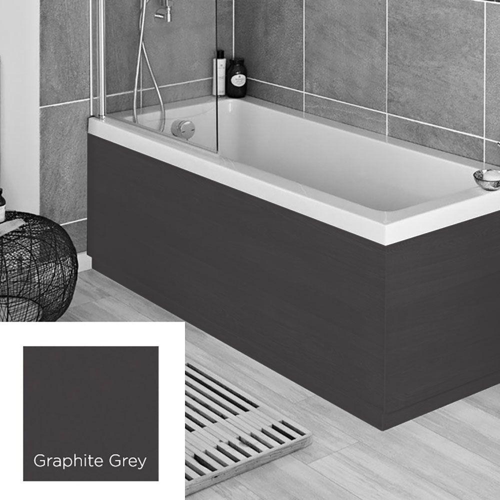 Best Harbour Anthracite Grey 1700Mm Vinyl Wrap Bath Panel 640 x 480