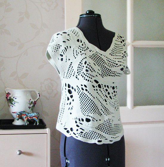 Openwork crochet # # # own technique crochet knitting spontaneous # #