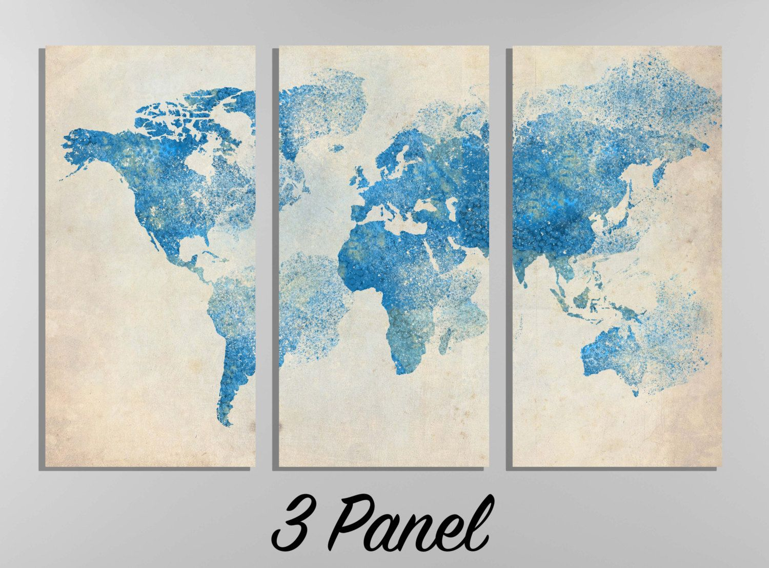 Blown away world map wall canvas gallery wrap blue by wallmac on blown away world map wall canvas gallery wrap blue by wallmac on etsy gumiabroncs Choice Image