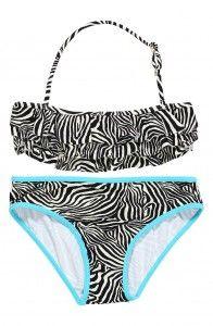 Stella Cove zebra bikini.  #tween fashion #Girlsswimsuit #stellacove #tweenbikini #tween girls #Swimwear #beachwear www.tweeninstyle.com
