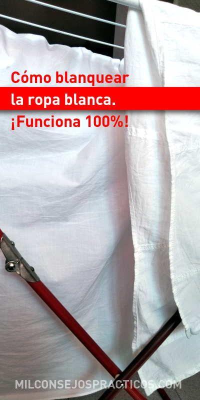 Cómo blanquear la ropa blanca. ¡Funciona 100%!