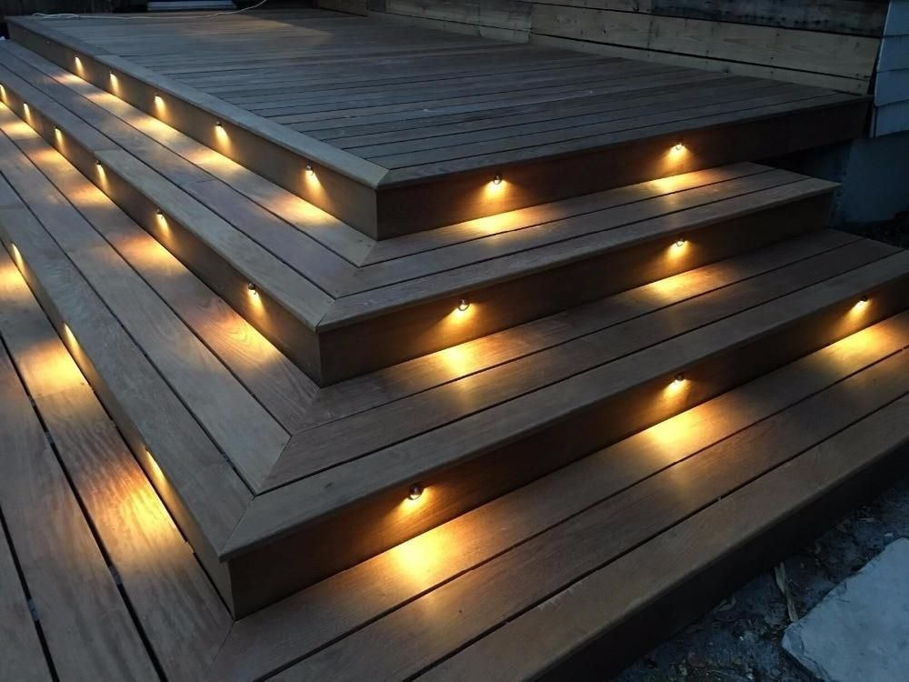 Led Deck Step Light Waterproof Garden Yard Villa Patio Stair Corridor Plinth Fence Lamp Low Volt Outdoor Stair Lighting Step Lighting Outdoor Deck Stair Lights