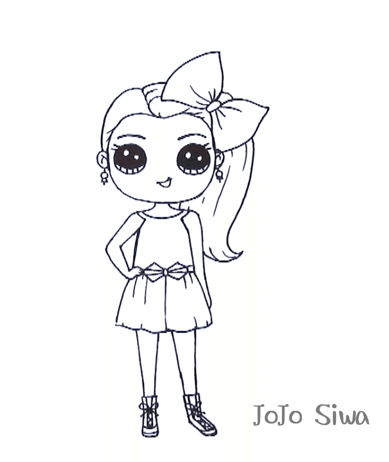 Jojo Siwa Coloring Sheets Free Not Pritable Be Cause I Cant Print It Becase I Can Not Print It It Not Free Coloring Pages Unicorn Coloring Pages Coloring Pages