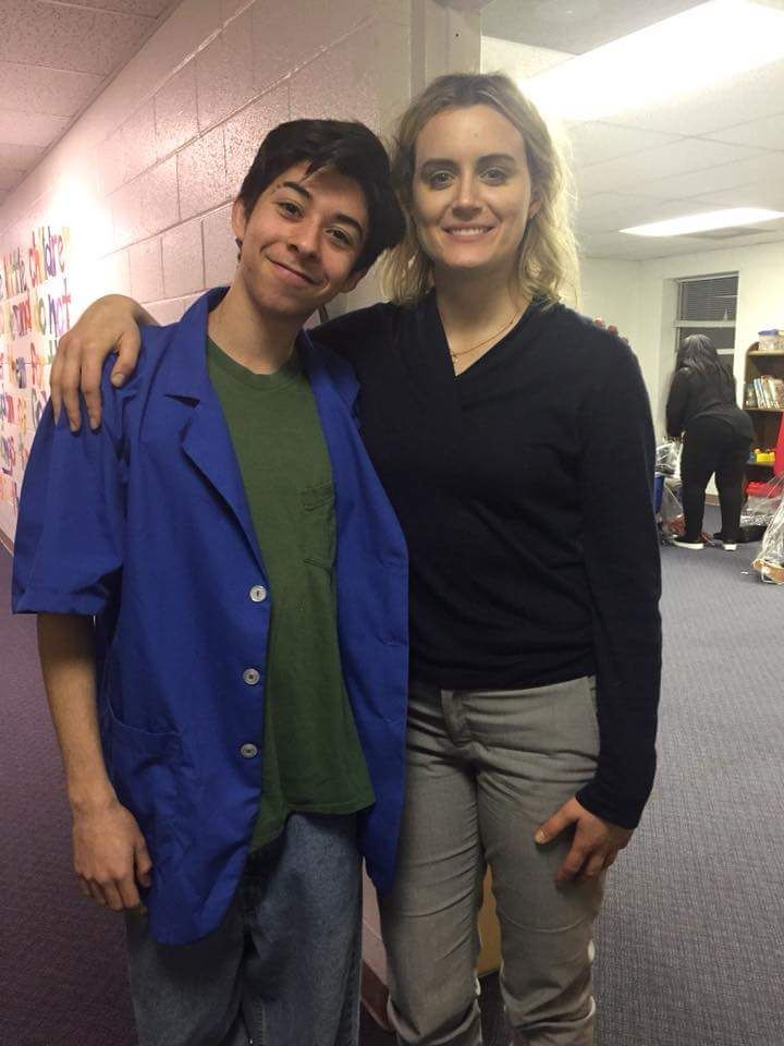 Taylor with cast member from family movie (With images ...Taylor Schilling Girlfriend 2019