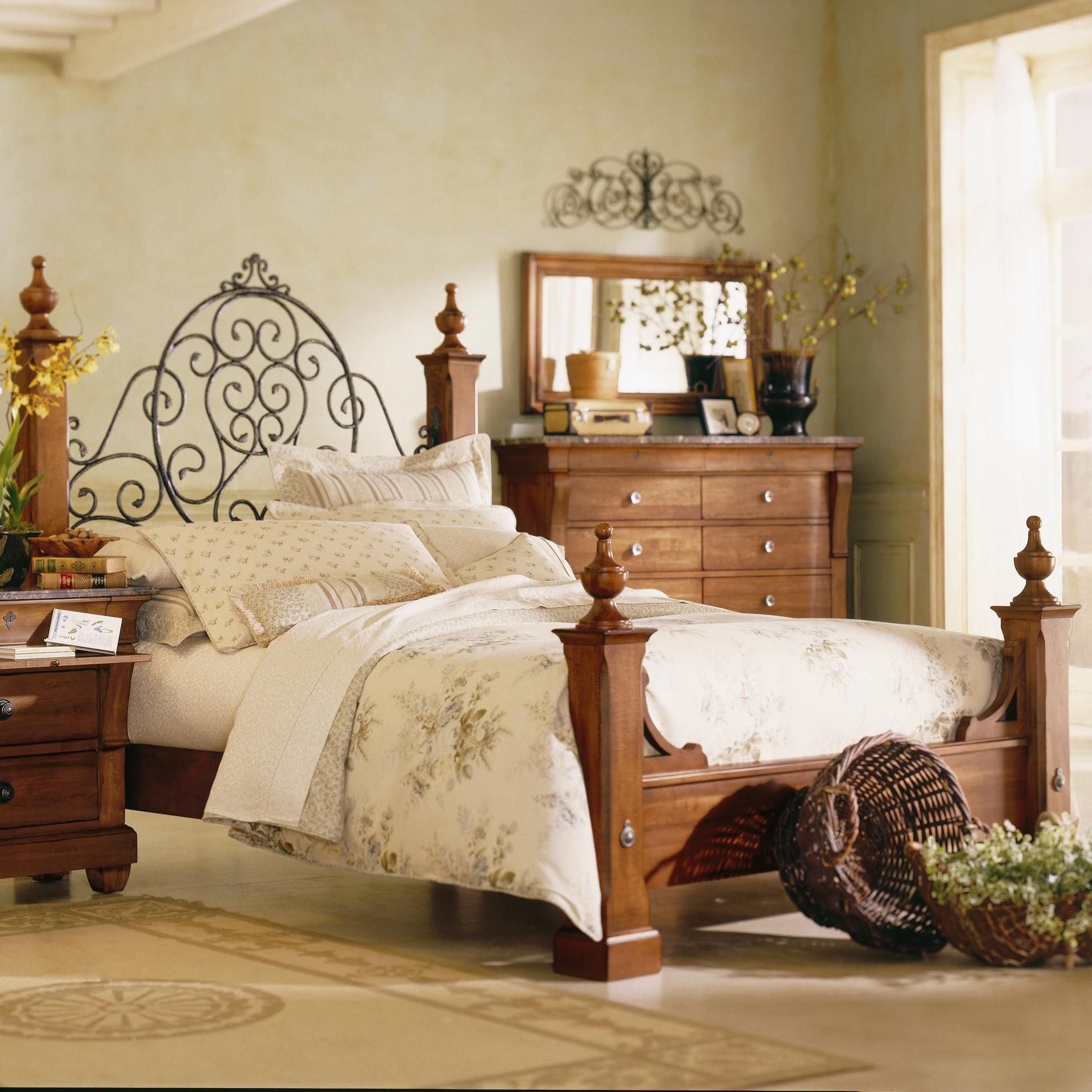 Tuscan Style Tuscano Queen Poster Bed by Kincaid Furniture