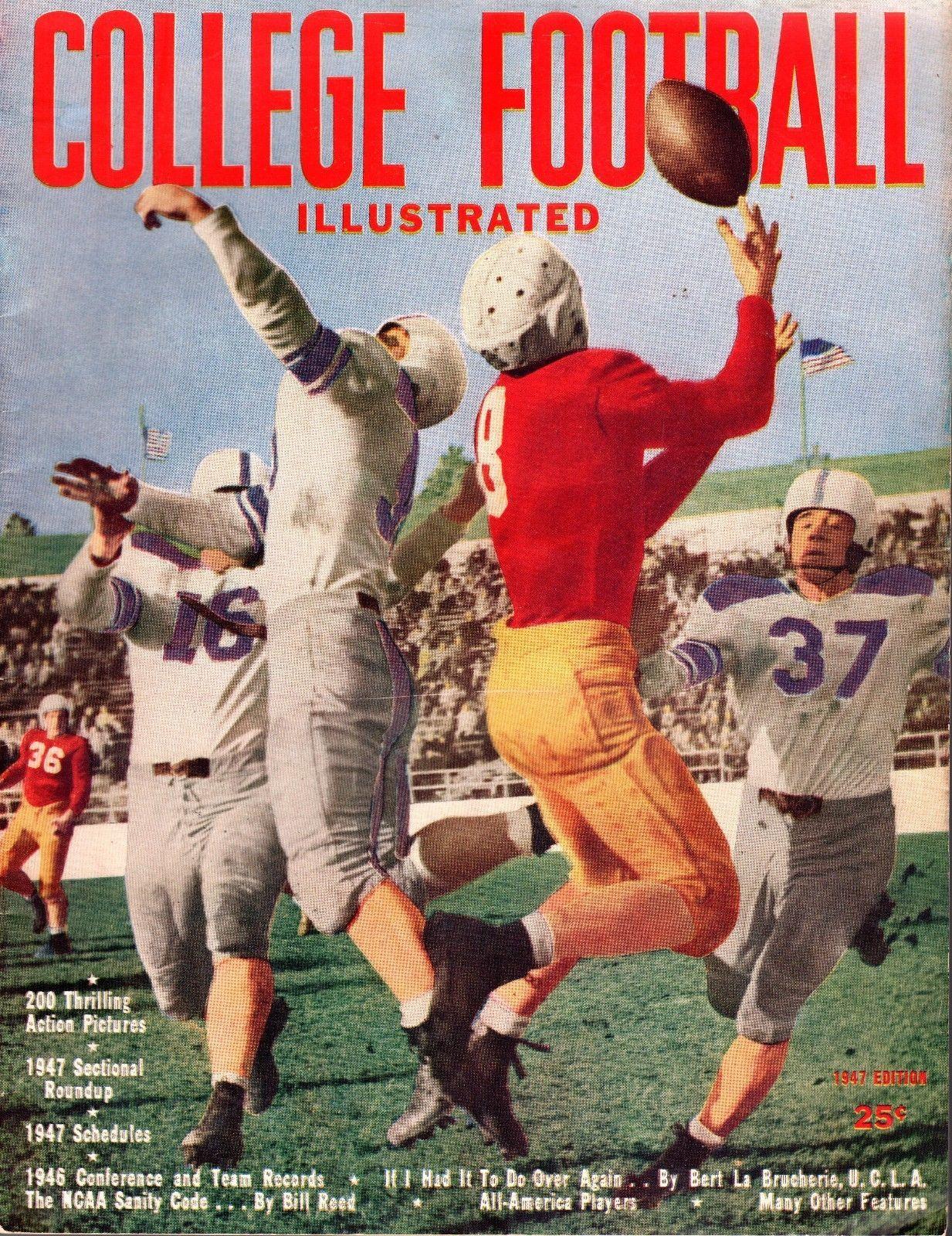 1947 College Football Illustrated Annual, magazine, Phil