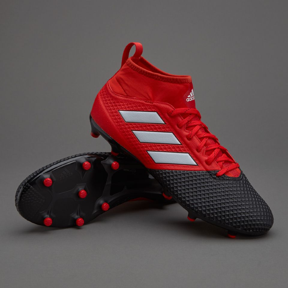 adidas ACE 17.3 Primemesh FG - Mens Soccer Cleats - Firm Ground - Red/White/Core  Black