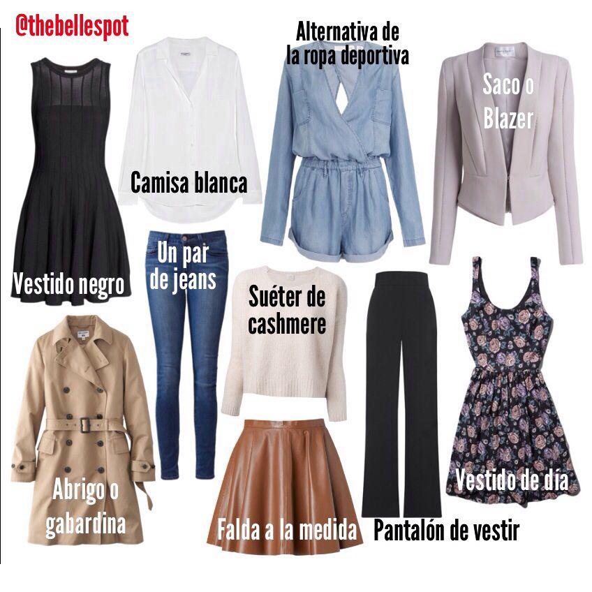 10 prendas de ropa necesarias en el clóset de una mujer