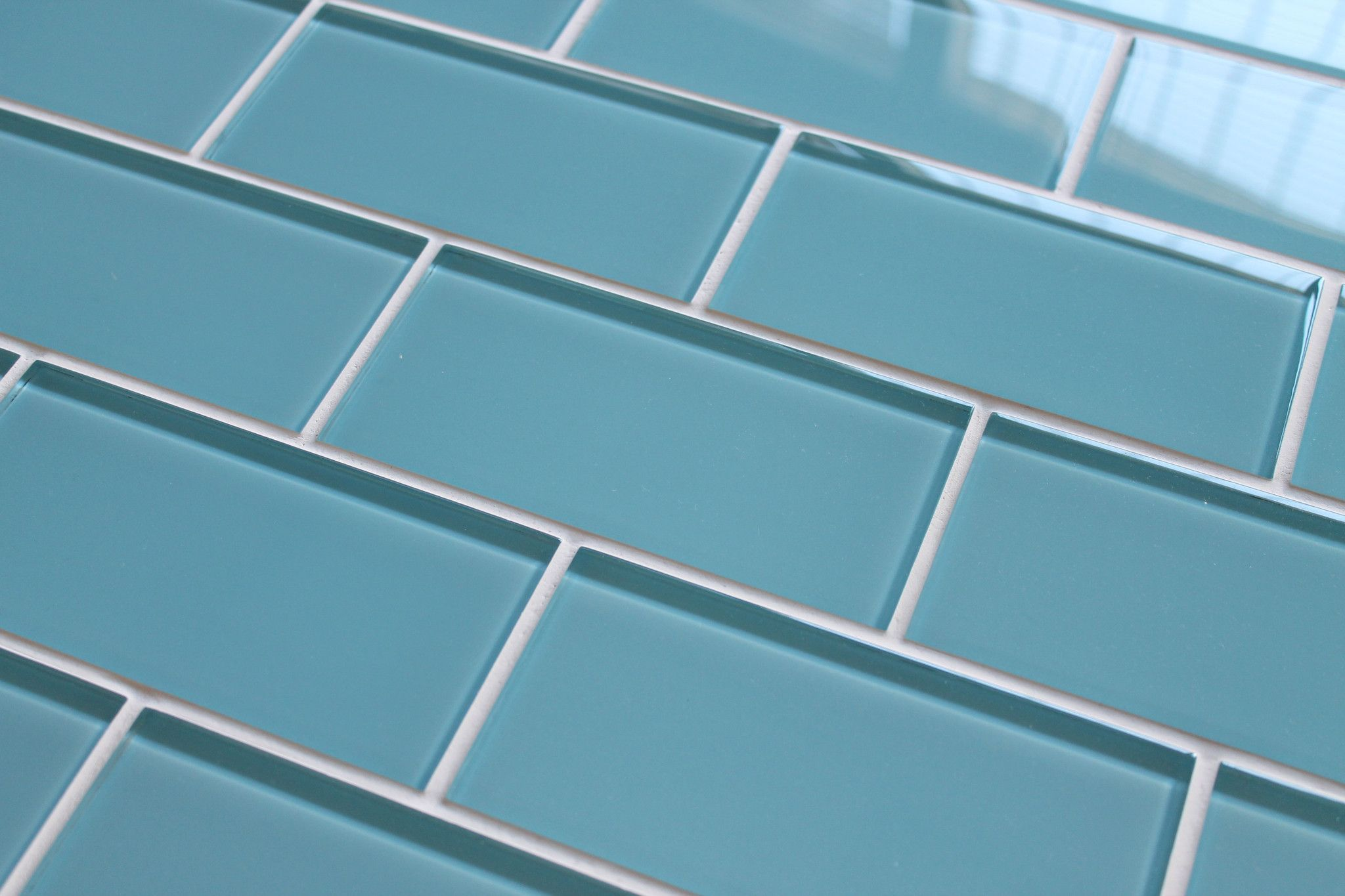 Infinity Blue 3x6 Glass Subway Tiles