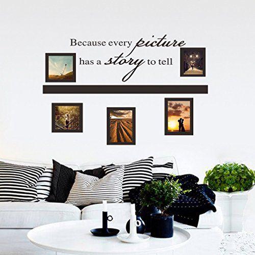 Sunnicy® Schwarze Fotorahmen Bilderrahmen Wandtattoos verschiedene - wandtattoos für schlafzimmer