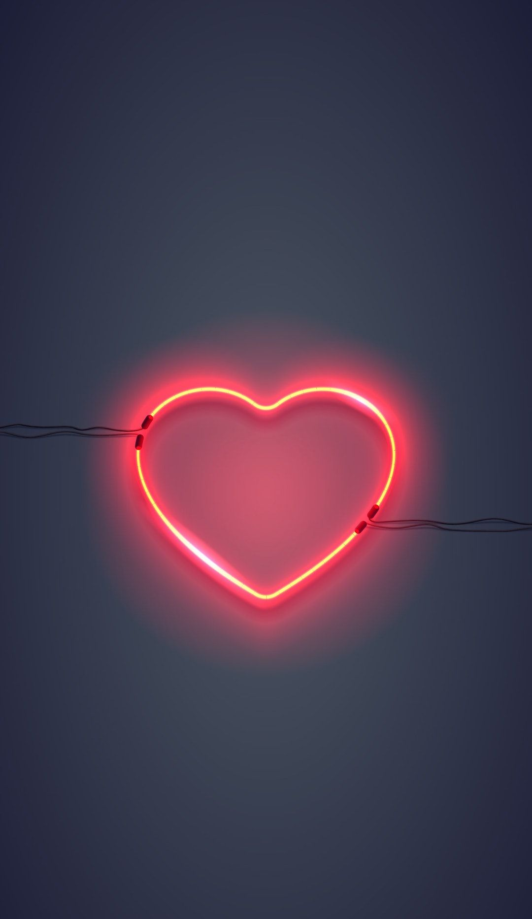 Download This Free Hd Photo Of Heart Light Neon And Red By