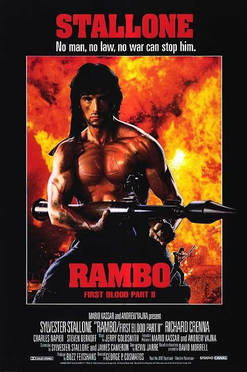 Rambo Sylvester Stallone toile ~ Plus Taille ~