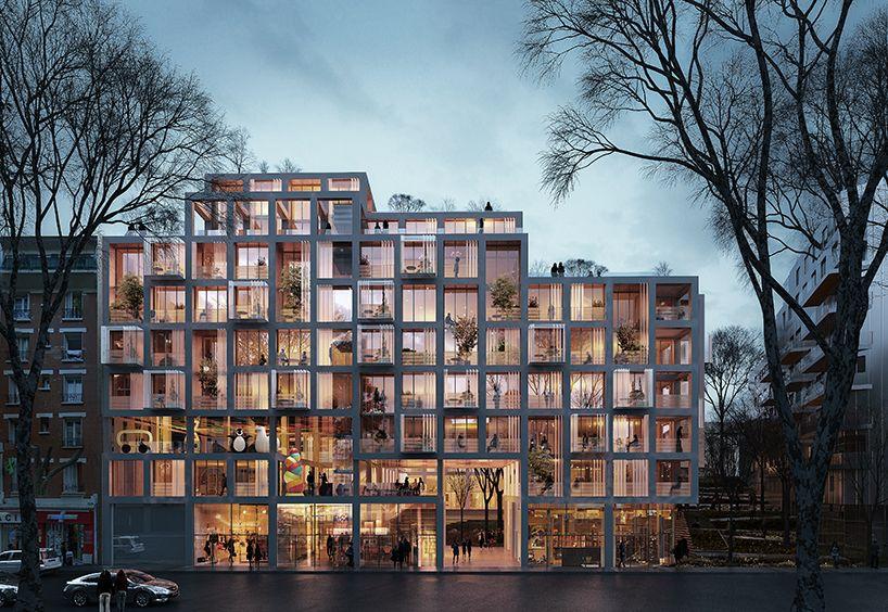 SANE architecture's building proposal in paris presents original spatial configuration is part of Landscape architecture Plan Cad - Landscape architecture Plan Cad