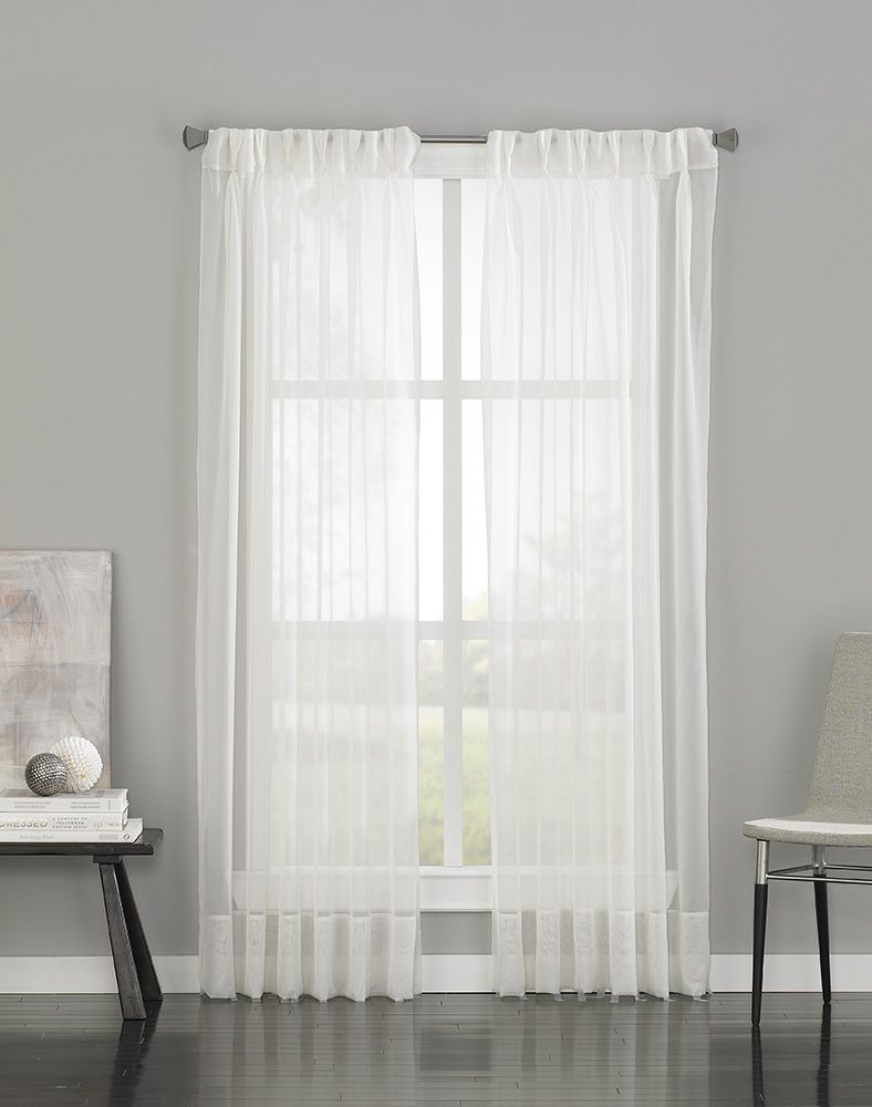 Soho Voile Sheer Pinch Pleat Curtain Panel Curtainworks Com Pinch Pleat Curtains Pleated Curtains Voile Curtains