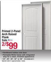 Mastercraft primed panel arch raised plank interior door from menards   also rh pinterest