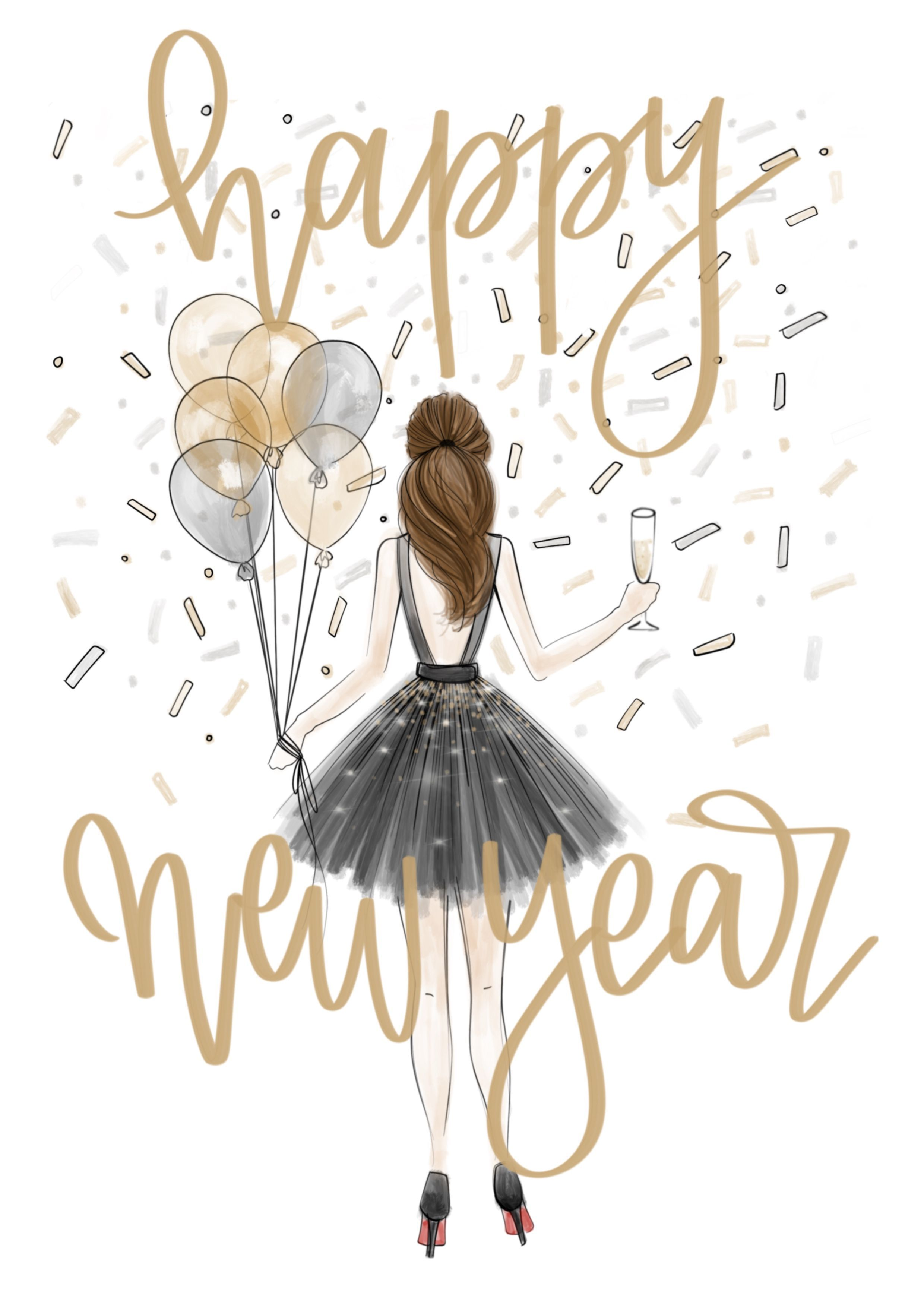 Happy new year celebrate iPhone wallpaper Shop the