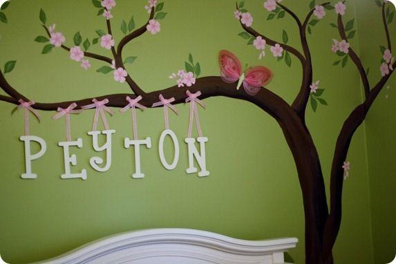 Pottery Barn Cherry Blossom Decal Inspired Wall Mural Baby Girl Room Family Tree Mural Diy Family Tree Mural