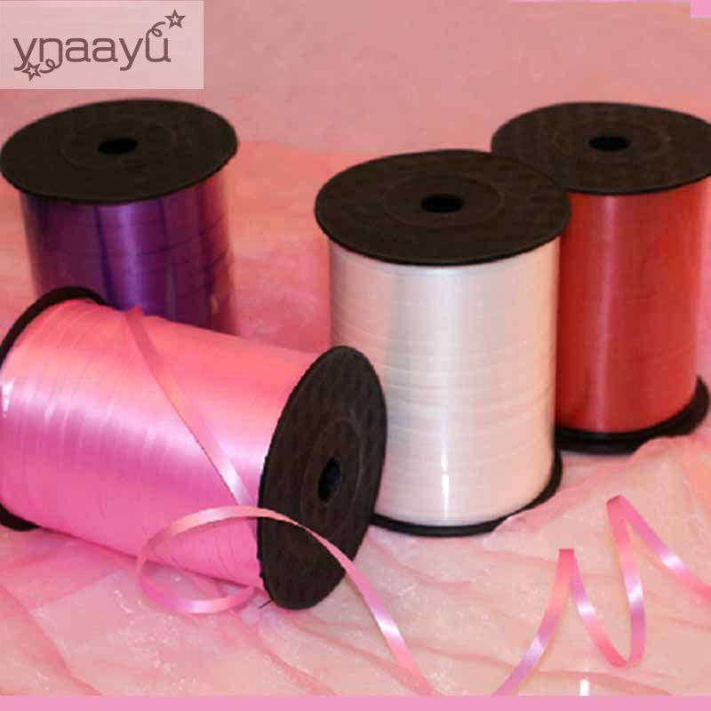 Ynaayu 1Pcs Colorful DIY Balloon Ribbons 500Yard Balloons Ribbon