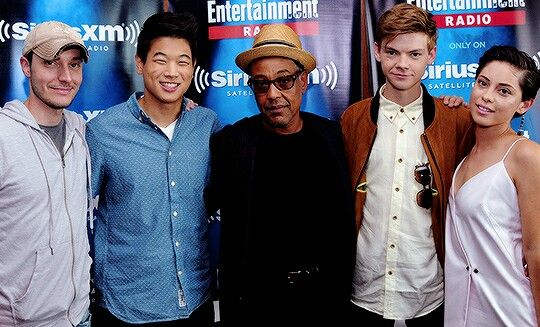 Left To Right Wes Ball Ki Hong Lee Gicarlo Thomas Brodie Sangster Rosa Salazar Director Minho Jo Maze Runner Maze Runner Series Maze Runner The Scorch