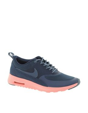 premium selection 08172 e43de Image 1 of Nike Air Max Thea Navy Trainers