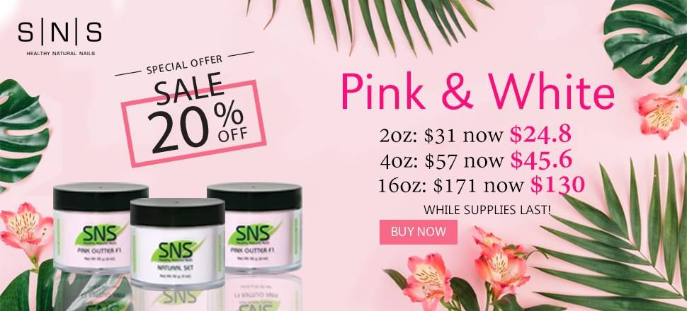 SNS Pink & White Promotion | DTK Nail Supply in 2019 | Wholesale ...