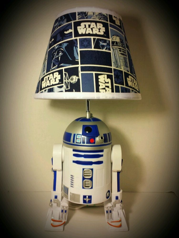 NEW Star Wars R2D2 Lamp & Lampshade! 20 Inches Tall