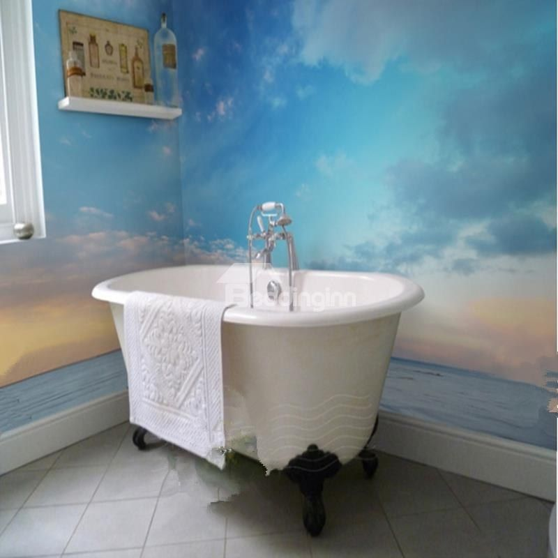 Sunset Sky And Sea 3d Waterproof Bathroom Wall Murals With Images
