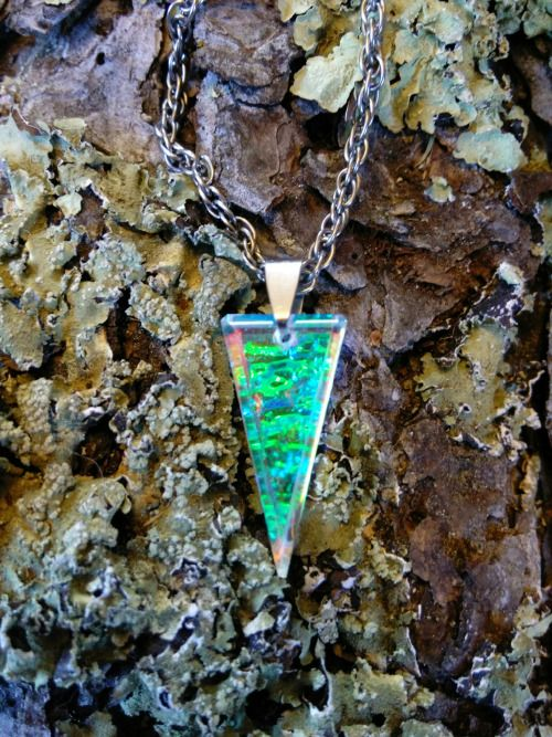 Cold worked dichroic jewel by Richard Elvis.