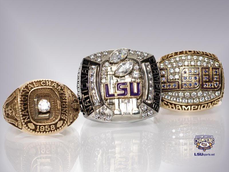 Lsu National Championship Rings Super Bowl Rings Lsu Championship Rings