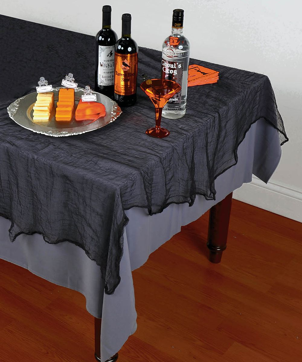 Black Cheesecloth Tablecloth Set Of Two Daily Deals