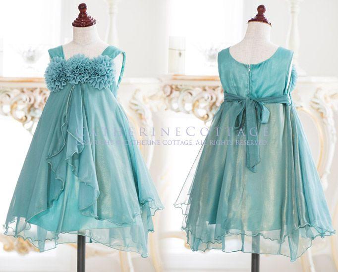 b95fdf20ffdb5 商品番号: KD325 子供ドレス 発表会 お花モチーフのオーロラシフォンドレス  子供