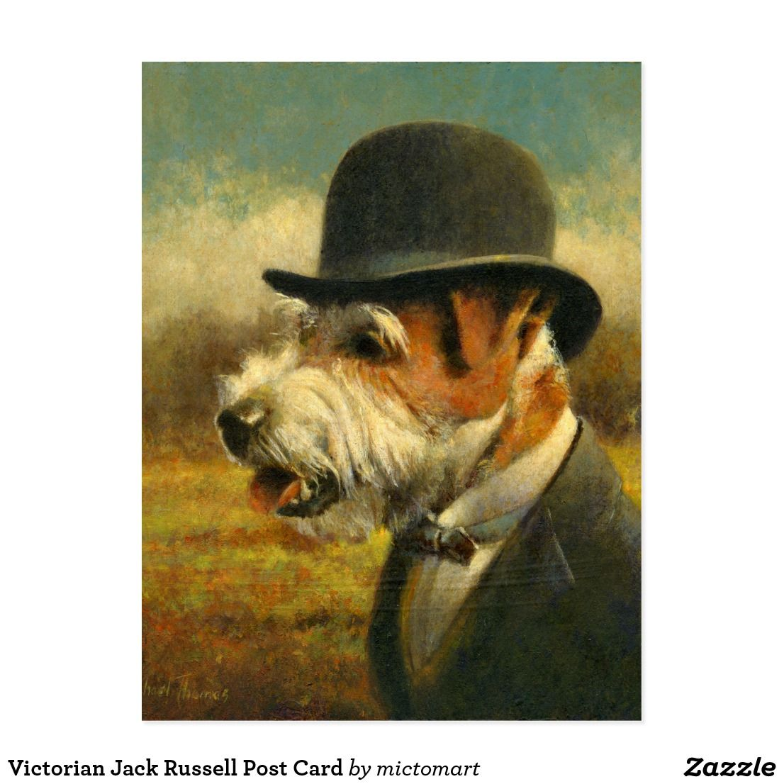 Victorian Jack Russell Post Card Jack