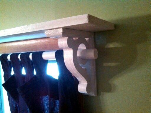 Curtain Rod Shelf Bracket Combo I Bought The Scroll Brackets