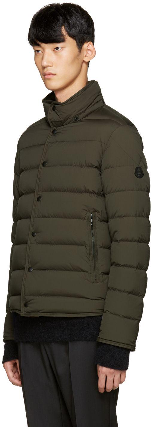 Moncler: Green Down Nazaire Coat | SSENSE