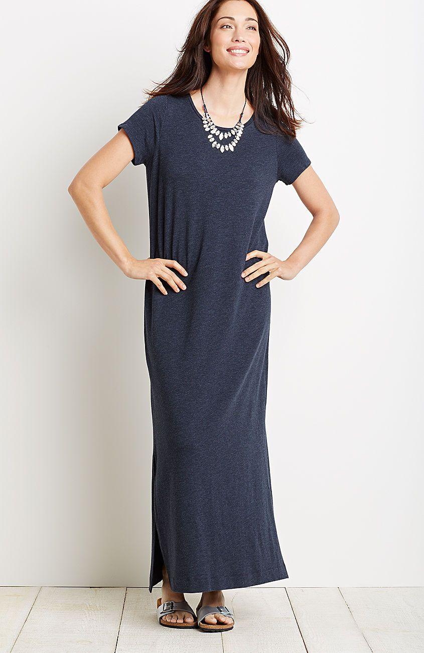 Maxi Tee Dress From J Jill Maxi Tee Dress Clothes For Women Dress Blog [ 1300 x 845 Pixel ]