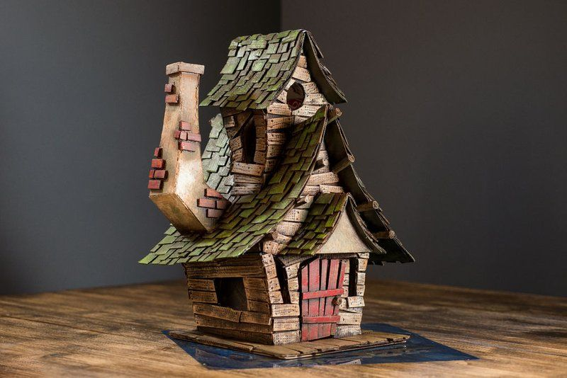 Witch House Using Cardboard Witch House Witch Cottage