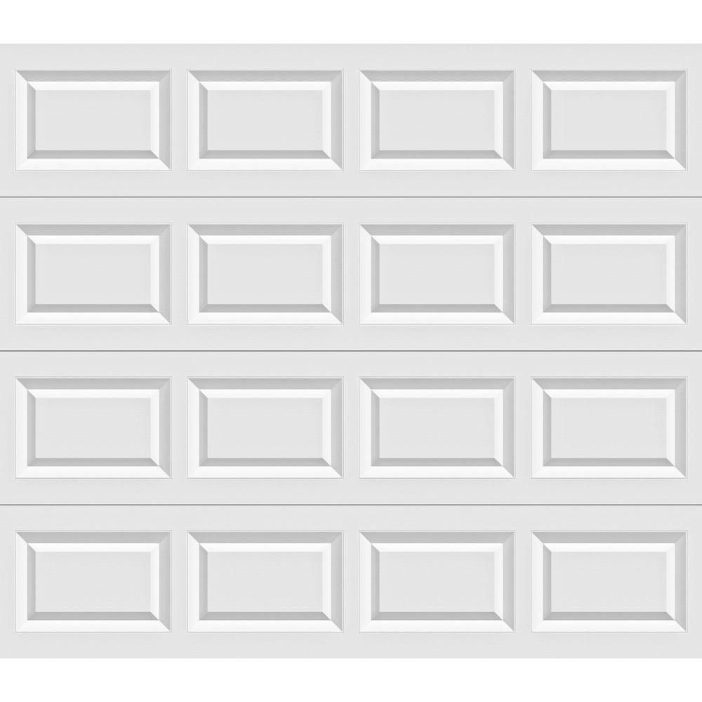 Clopay Classic Collection 9 Ft X 7 Ft Non Insulated Solid White Garage Door White Garage Doors Overhead Garage Door Garage Doors