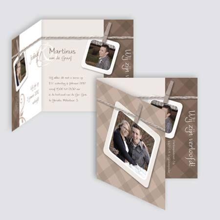 Verlovingskaart Jealinde en Martinus, ontworpen door Ontwerp Studio Rottier