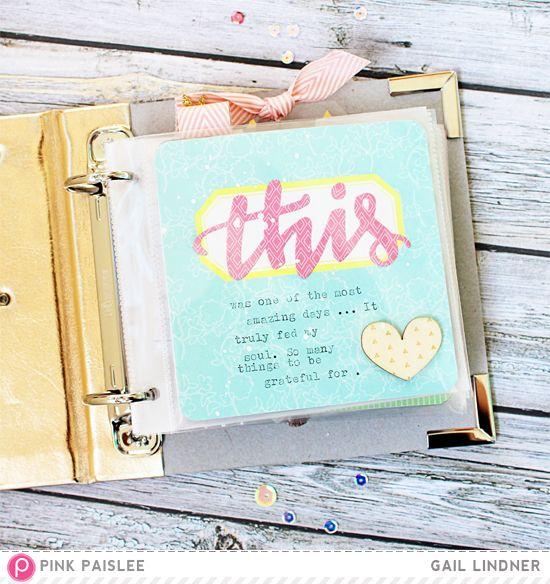 Make It Mini: Crystal Cove 2015 @gail_lindner @pinkpaislee #pinkpaislee #ppcitrusbliss #scrapbooking #minialbum #DIY