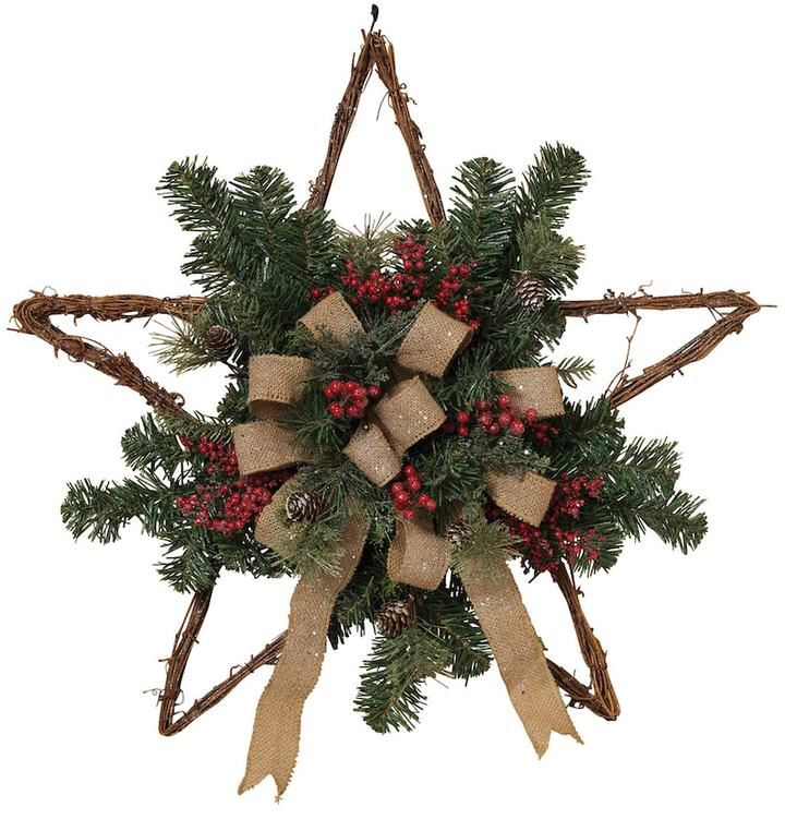 Burlap twig star, this would be another really simple diy idea, I