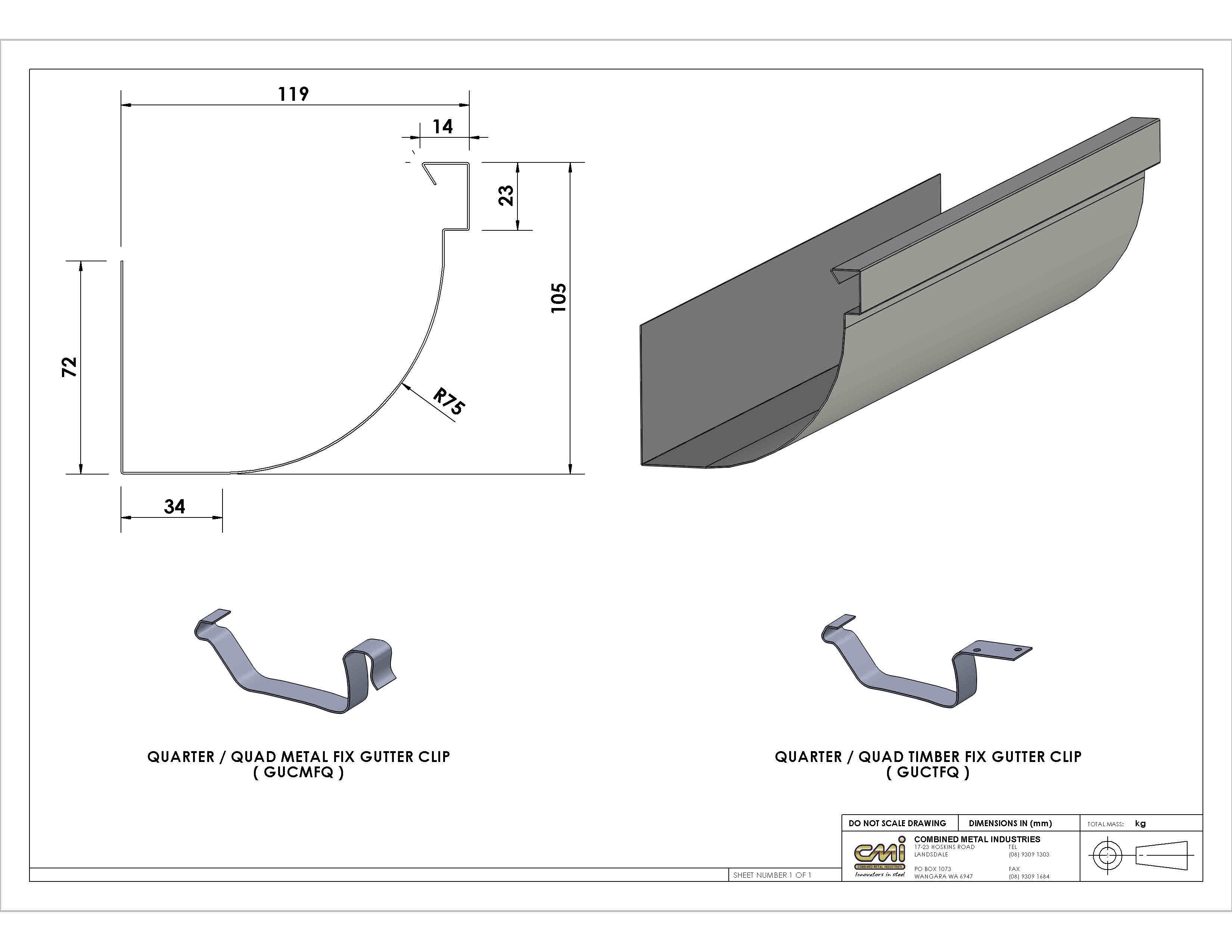 Quad Gutter Profile Cmiwa Gutter Profiles Gutters Gutter Sizes